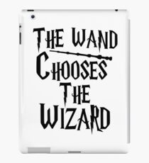 The wand chooses the wizard iPad Case/Skin