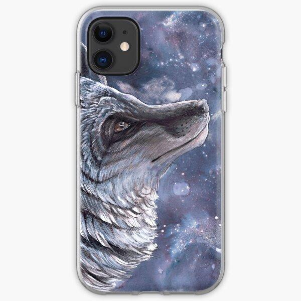 Silver Fox Moon iPhone Soft Case