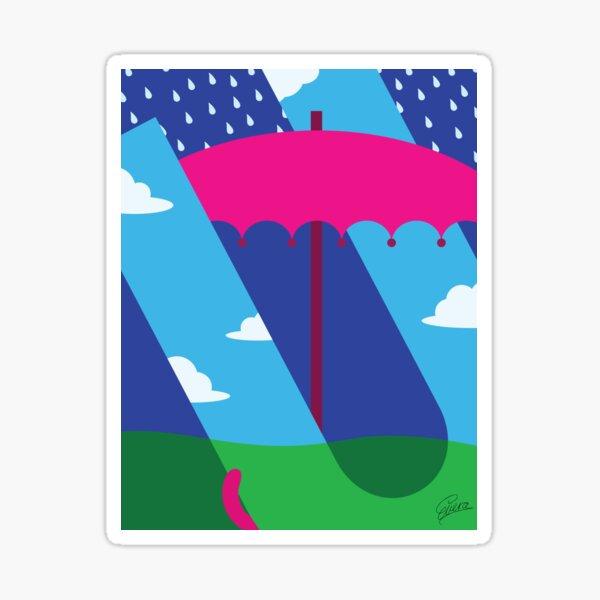 U is for Umbrella Sticker