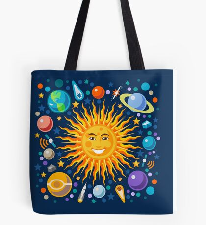 Funny Solar System Isometric Tote Bag