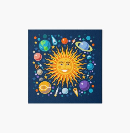 Funny Solar System Isometric Art Board
