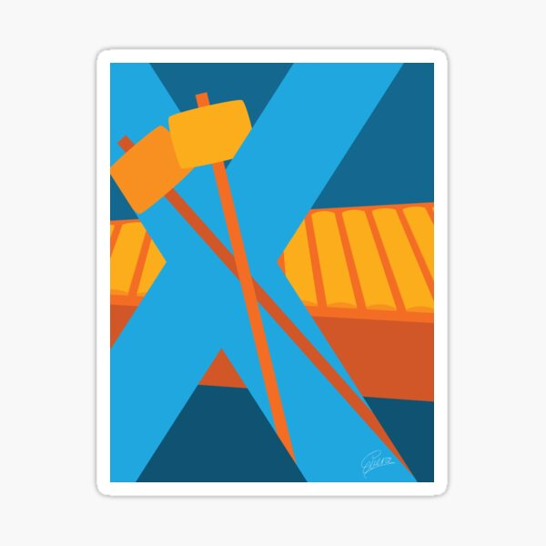 X is for Xylophone Sticker