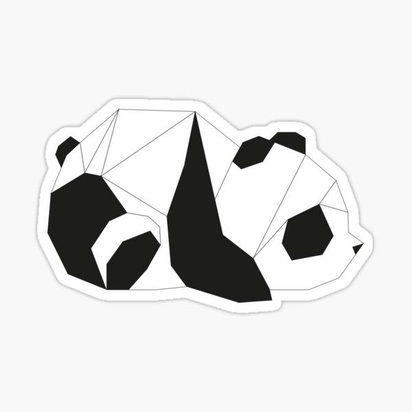 Geometric panda Sticker