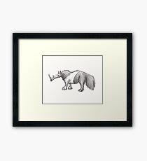 Anteater Rhino  Framed Print