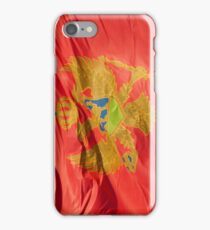 Waving Flag of Montenegro From 2014 Winter Olympics iPhone Case/Skin