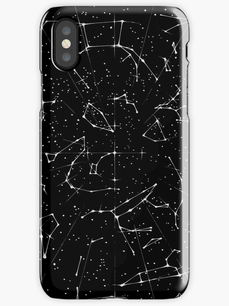 Constellation Star Map Of The Northern Hemisphere IPhone Cases - Star map iphone