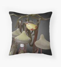 Bicycles in the Hereafter Throw Pillow