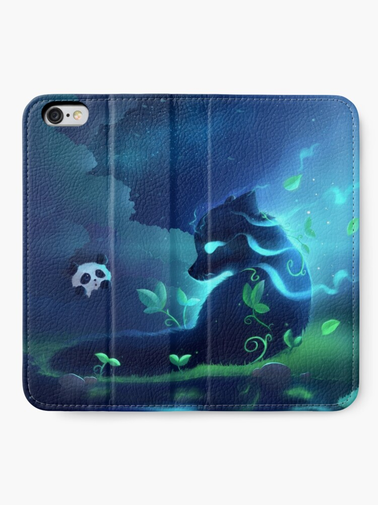 Alternate view of Forest spirit iPhone Wallet