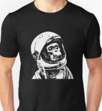 Monkey in Space. Funny Astronaut Chimpanzee  Unisex T-Shirt