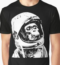 Monkey in Space. Funny Astronaut Chimpanzee  Graphic T-Shirt