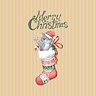 Christmas Stocking Series: Grey Kitten by LCWaterworth