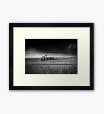 North Dakota Study in B & W VI Framed Print