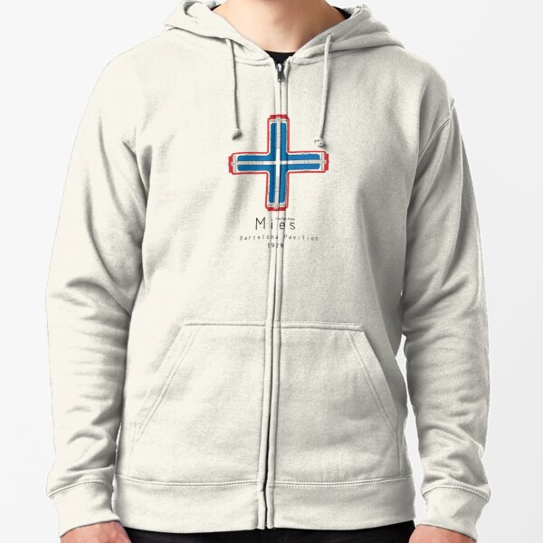 ICONIC ARCHITECTS-MIES VAN DER ROHE Zipped Hoodie