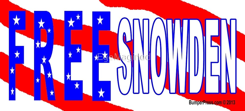 Free Snowden by EyeMagined