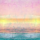 Floral Sunset Beach Wall Tapestry by 86248Diamond