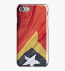 Waving Flag of East Timor From 2014 Winter Olympics iPhone Case/Skin