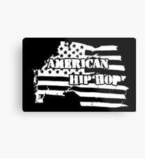 American Hip Hop (White) Metal Print