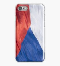 Waving Flag of the Czech Republic From 2014 Winter Olympics iPhone Case/Skin