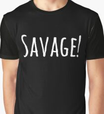 Savage! Rocket League Funny Video Game Gifts Graphic T-Shirt
