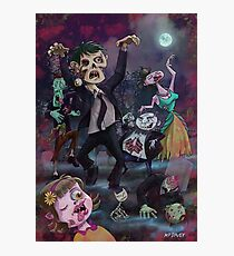 Cartoon Zombie Party Photographic Print