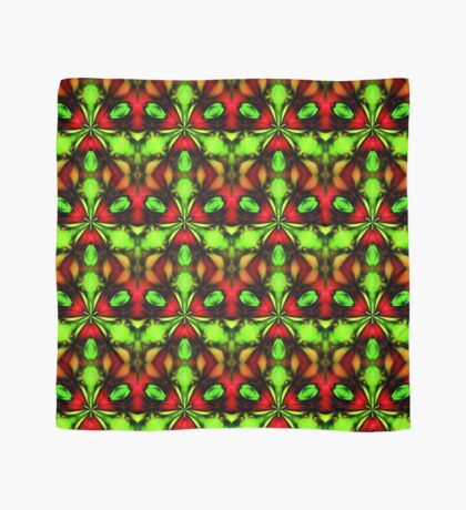 Loud Abstract Green And Red Design Scarf