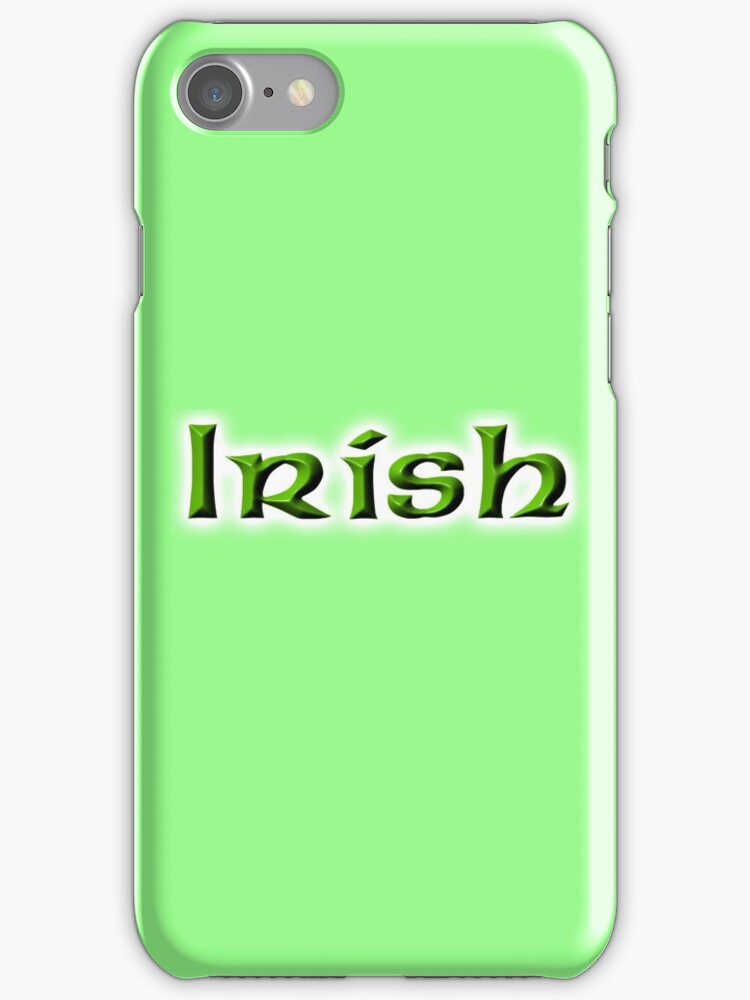 IRISH, Ireland, Eire, Emerald Isle, St Patricks Day, On White by TOM HILL - Designer