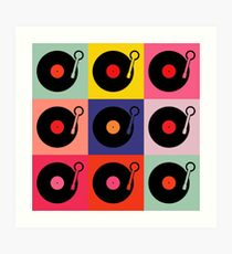 Vinyl Record Pop Collage Art Print