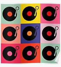 Vinyl Record Pop Collage Poster