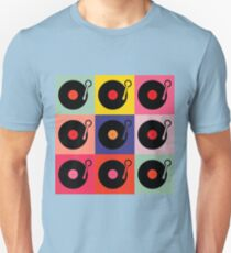 Vinyl Record Pop Collage T-Shirt