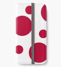 Zen Sphere - Red on White iPhone Wallet