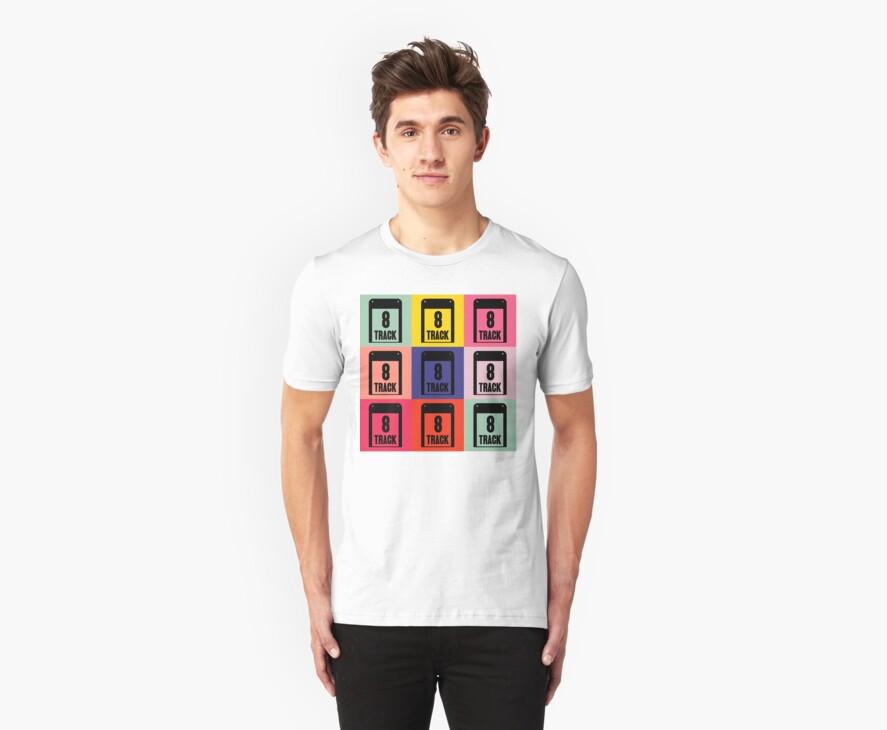 8 Track Pop Art T-Shirt 2 by retrorebirth