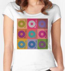 Vinyl Record Pop Art 4 Women's Fitted Scoop T-Shirt