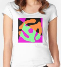 Abstract 45 Record Holder Women's Fitted Scoop T-Shirt