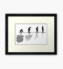 Evolution of Environment , Humans , Nature Framed Print