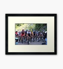 Tour de France Peloton - Col du Grand Colombier 2012 Framed Print