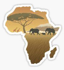 Africa Map Landscape Sticker