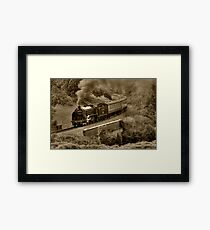 Southern 825 Locomotive (Sepia) Framed Print