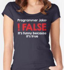 Programmer Joke: !False Women's Fitted Scoop T-Shirt