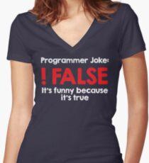 Programmer Joke: !False Women's Fitted V-Neck T-Shirt