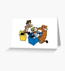 Doctor Who and Hobbes Greeting Card
