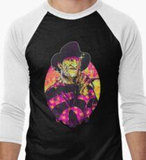 Neon Horror: Freddy  Men's Baseball ¾ T-Shirt