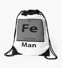 Iron Man Pun Drawstring Bag