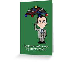 Sherlock Christmas card: Mycroft's Brolly Greeting Card
