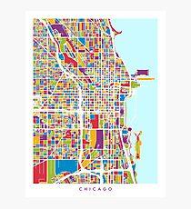 Chicago City Street Map Photographic Print