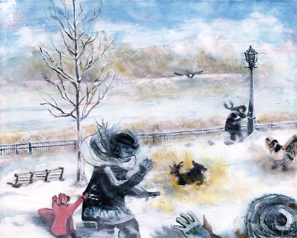 Snowdown in Quebec. Drama under foot. by F.A. Moore