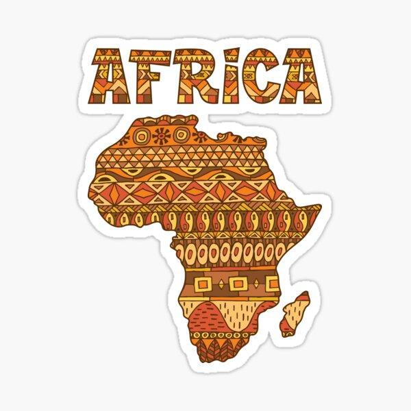 Africa Map Pattern Sticker