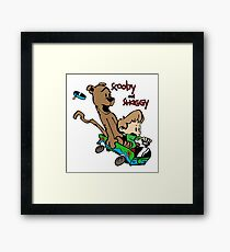 Scooby and Hobbes Framed Print