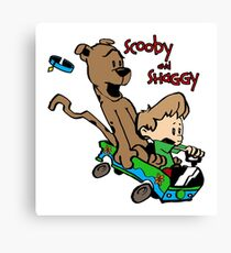 Scooby and Hobbes Canvas Print