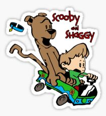 Scooby and Hobbes Sticker
