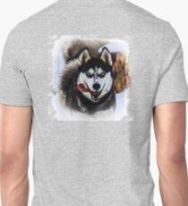 Blue Eyed Sled Dog Unisex T-Shirt